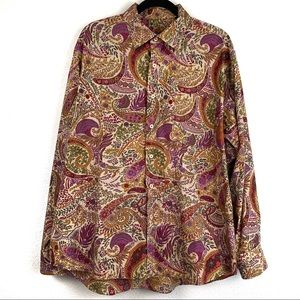 Alan Flusser Printed Long Sleeve Top XL